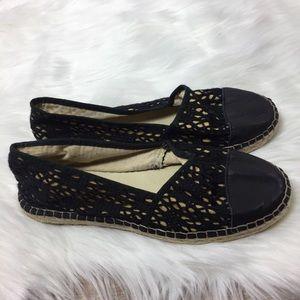 Spanish Espadrilles Lace Leather Size 37/6-6.5